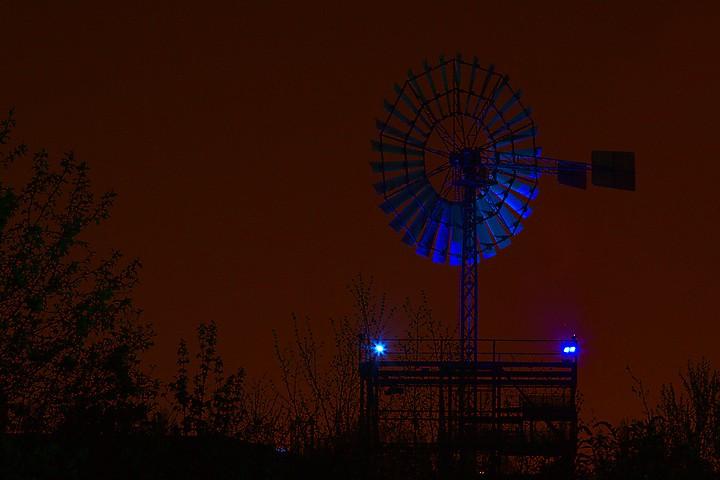 Windrad im Landschaftspark Duisburg